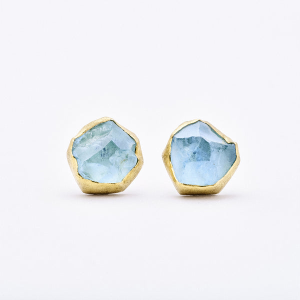Aquamarine Post Earrings