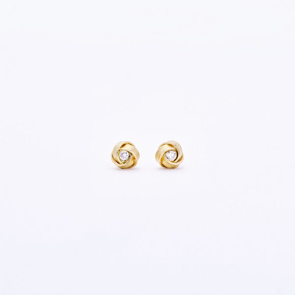 Diamond Knot Post Earrings