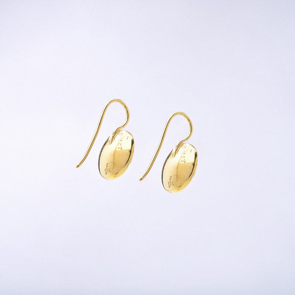 Yellow Sapphire and 22kt Gold Earrings