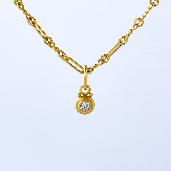 22k Yellow Gold and Diamond Necklace