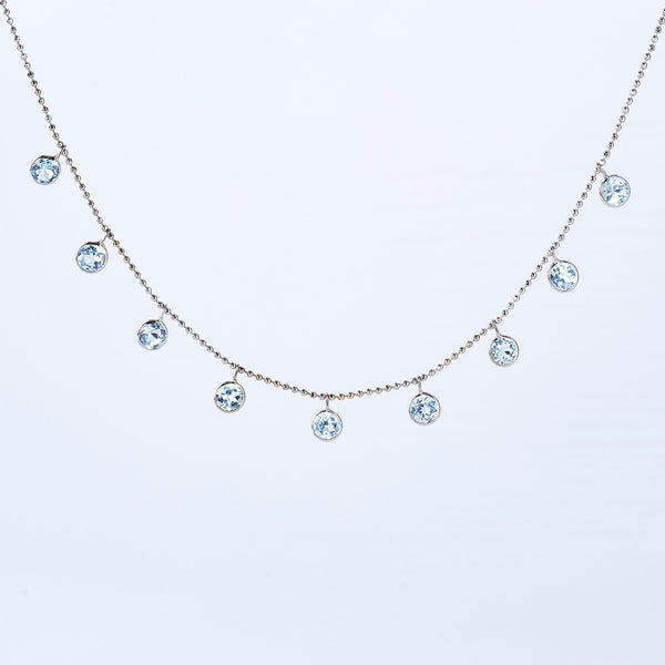 Blue Topaz Cleopatra Necklace