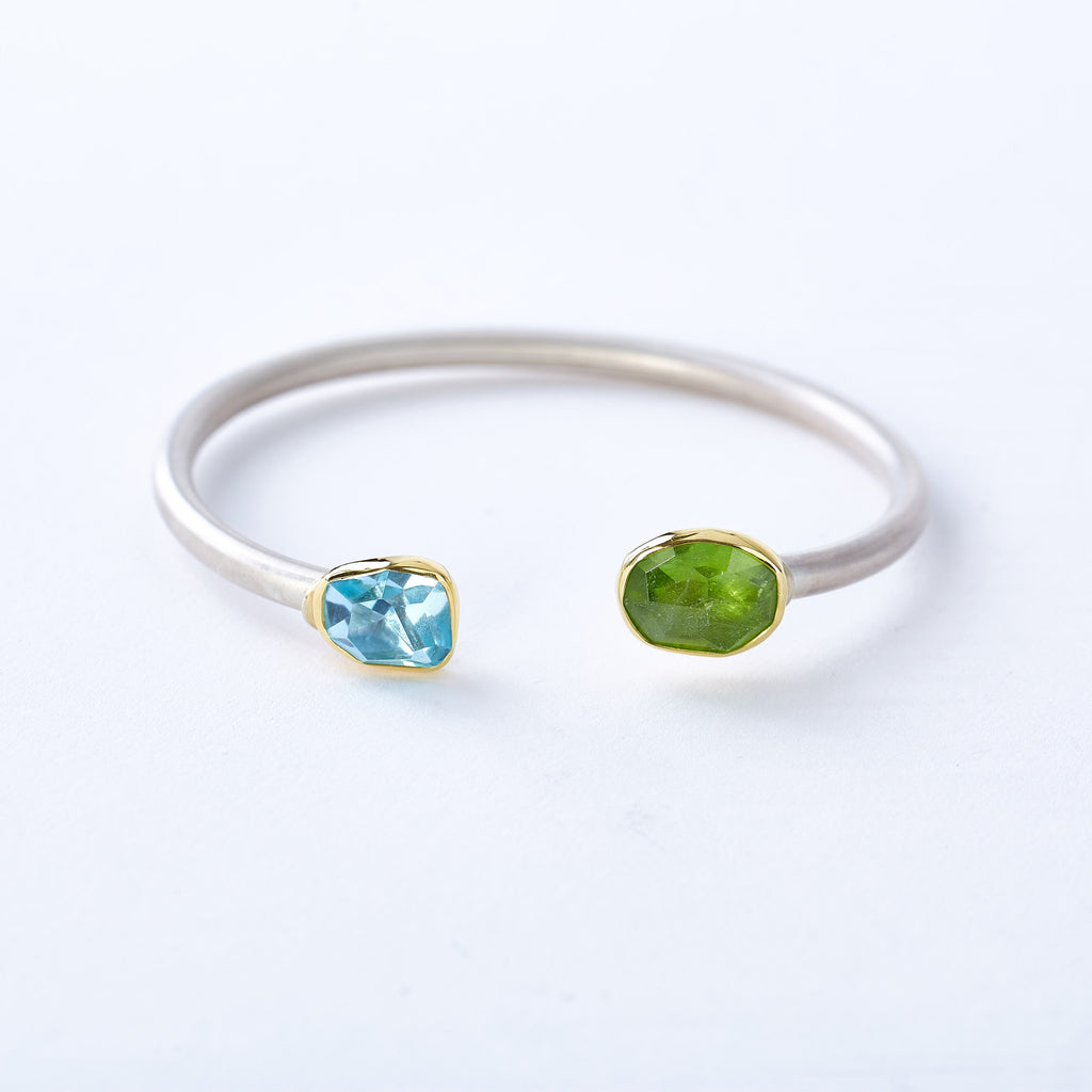 Aquamarine and Peridot Bracelet