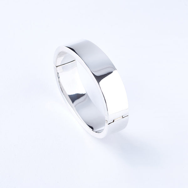 Sterling Silver Hinged Cuff Bracelet