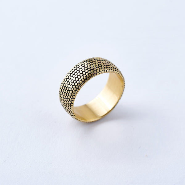 Yellow Gold Wide Dot Band
