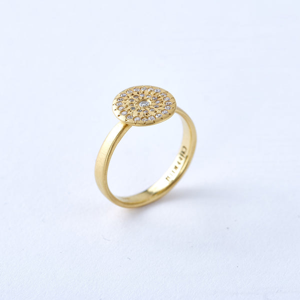 Yellow Gold and Diamond Circle Ring
