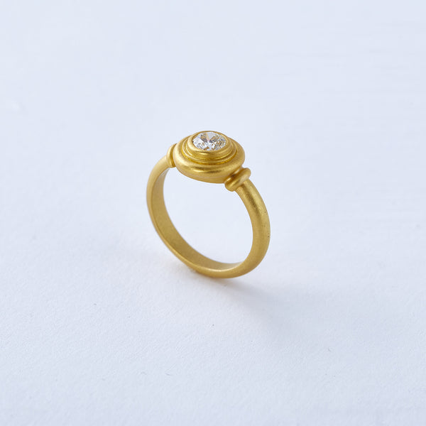 22k Yellow Gold and Diamond Ring