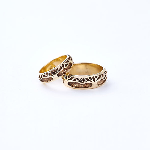 Yellow Gold Tree Band