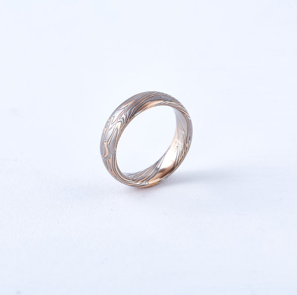 Mokume Wedding Band