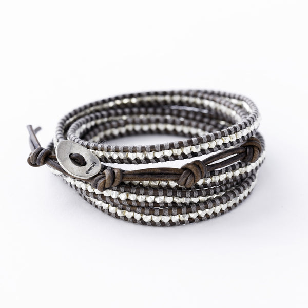Brown Leather Chan Luu Wrap Bracelet