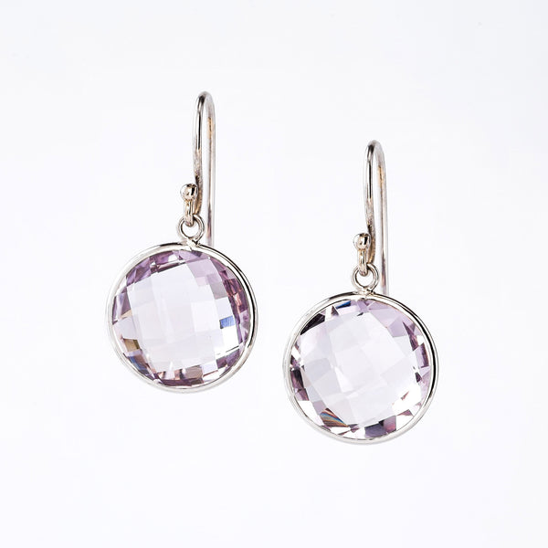 Rose De France and White Gold Earrings