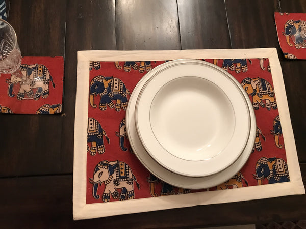 Elephanta Tablemat Set - With Bag
