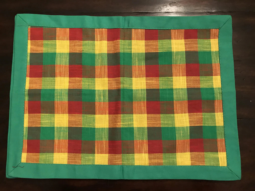 Green Red Yellow Madras Checks