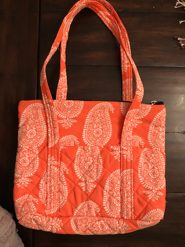 Handbag - Orange Paisley