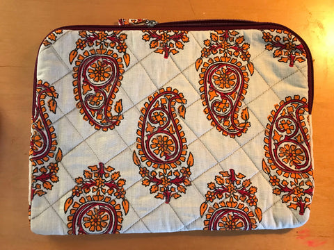 iPad Cover - Paisley Orange