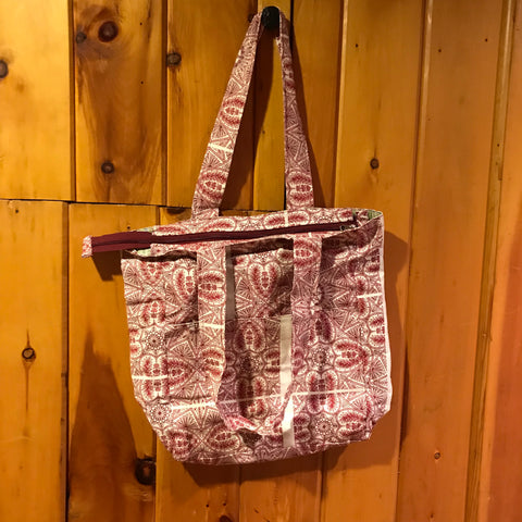 Red Print Shopping Bag
