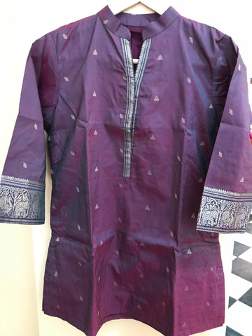 Heirloom Series - Maroon Kanchi Silk Kurti