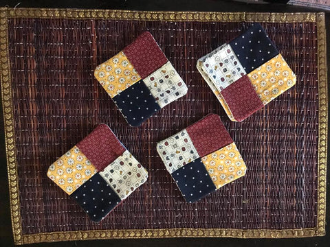 Quilt Pieces Coasters (Set of 4)