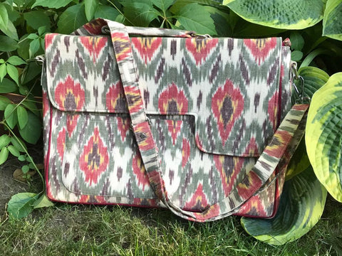 Exotic IKAT Laptop Bag