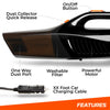 "Image of SwiftJet Car Vacuum Cleaner - High Powered 5 KPA Suction Handheld Automotive Vacuum - 12V DC 120 Watt - 14.5"" Cord"