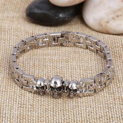 New Charming Skull Silver Color Bracelet