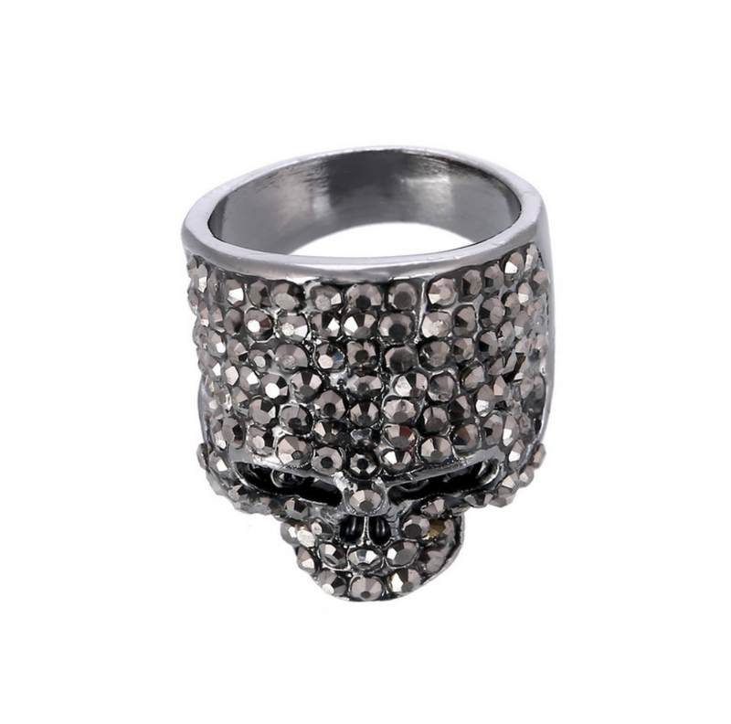 Hot Crystal Skull Ring