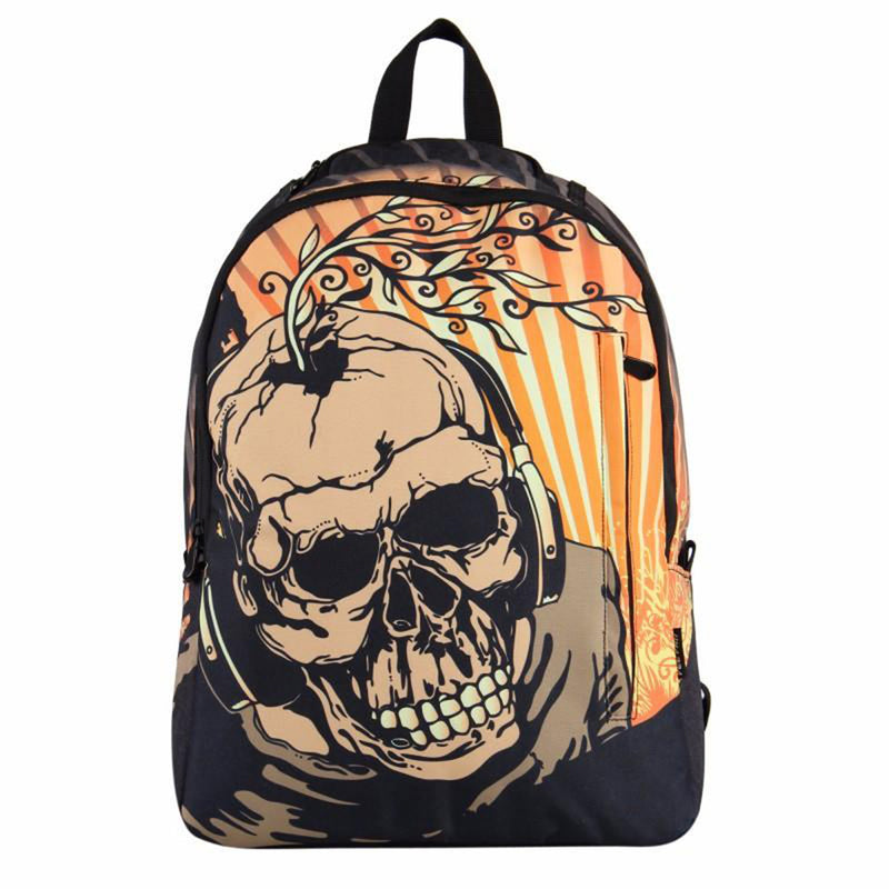 Devilish Skull Backpack 3D Skull Printed