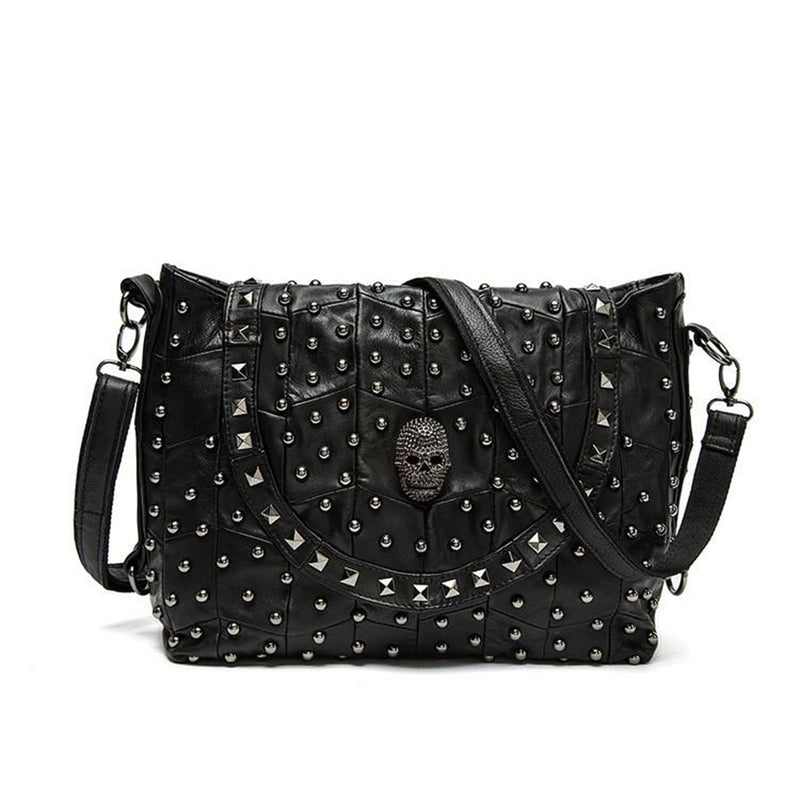 Super Hot Selling Women's Genuine Leather Skull Shoulder Bag