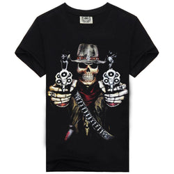 Hot 100% Cotton Men's Skull T-shirt
