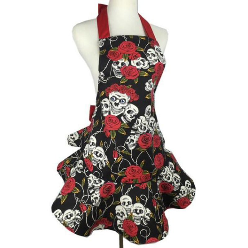 NEW! Stylish Loose Fit Skull Apron