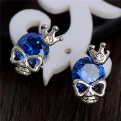Cute Skull CZ Earrings