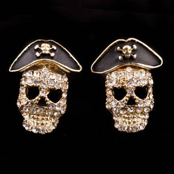 2018  Hip Hop Pirate Skull Earrings