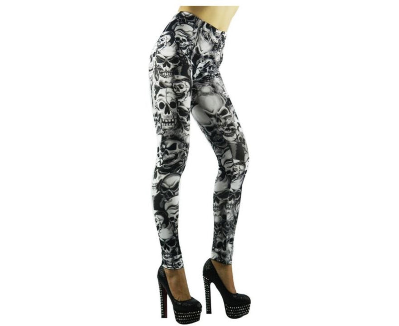 Skull Leggings Stretch Tights