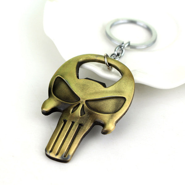 New Arrival The Punisher Skull Bottle Opener Keychain