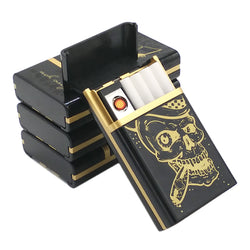 Skull Rechargeable Cigarette Lighter with Case