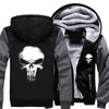 Skull Unisex Coat with Hoodie Jacket