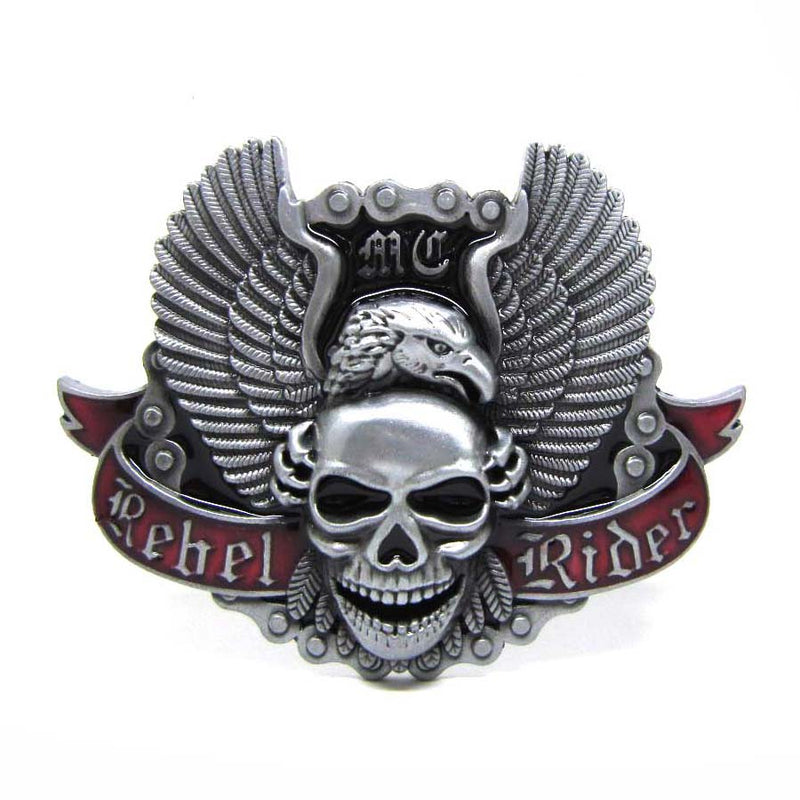 Angel Skull Eagle Riders' Belt Buckle