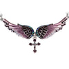 Gorgeous Angel Wings Cross Necklace