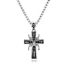 Retro Stainless Steel Punk Skull Cross