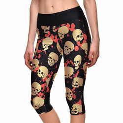 SEXY Women's Leggings Skull Print with Side Pocket