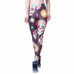Women's Stars Skull Colorful Leggings-Summer styles