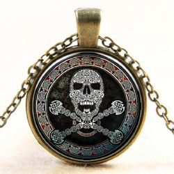 Sugar Skull Necklace Pendant