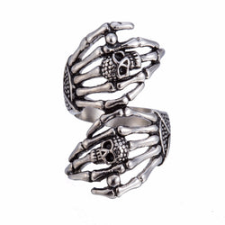 Brilliantly Crafted Stainless Steel Skull Bone Ring