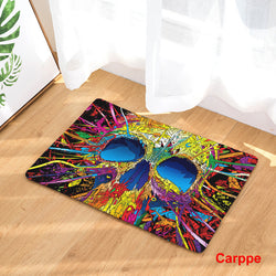 Colorful Skull Printed Non-Slippery Doormat