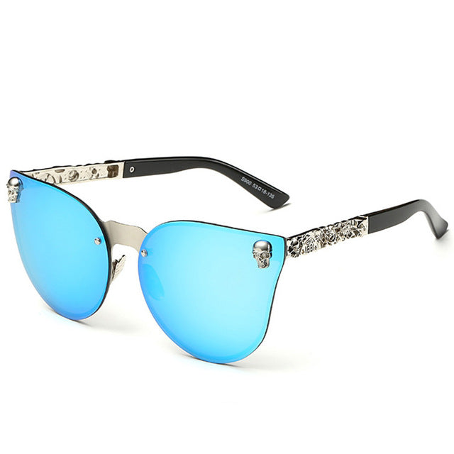 Luxury Skull Sunglasses with UV400 Anti-Reflective