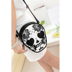 Retro Skull Women's Shoulder/Cross-Body Messenger Bag