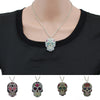 "Impressive Colorful Skull 16"" Chain Necklace"