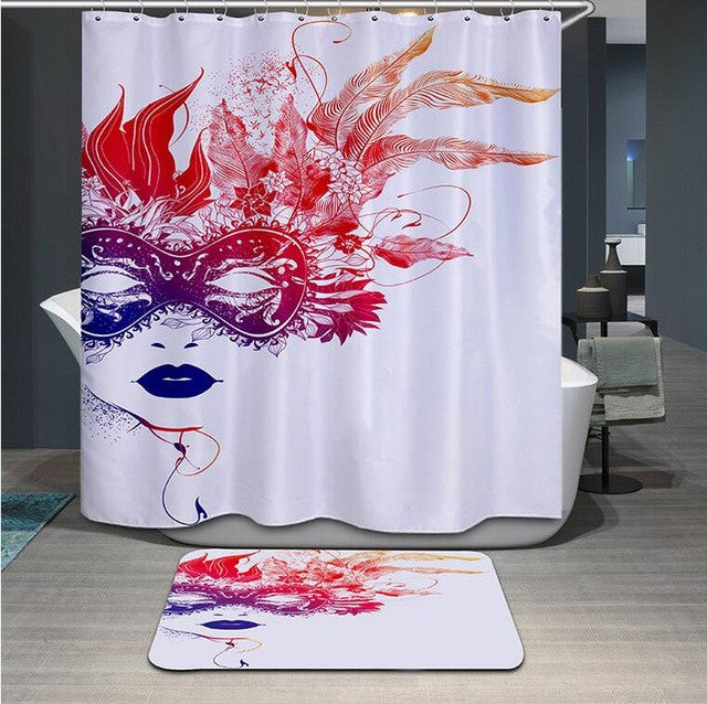 High Quality 3D Shower Curtain