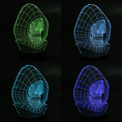 3D LED Multi-Color Skull Color Changing Lamp Hologram