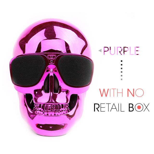 Awesome Skull Shaped Wireless Bluetooth Speaker
