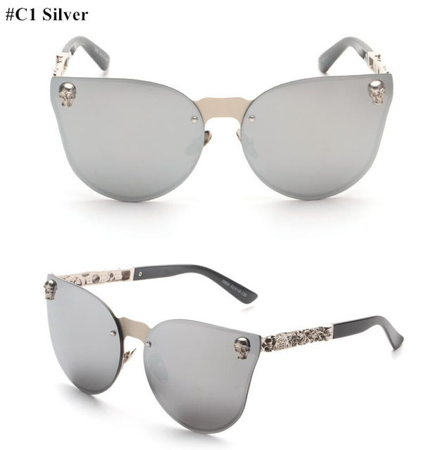 Skull Oversize Sunglasses for Women - Ladies Eye-Wear